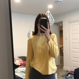 simple yellow long sleeve